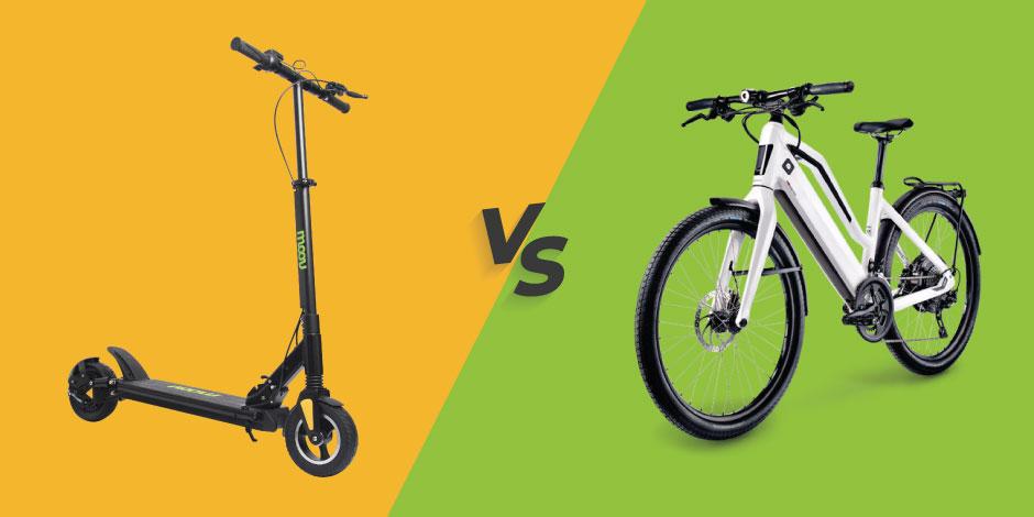 patineta vs bicicleta eléctrica